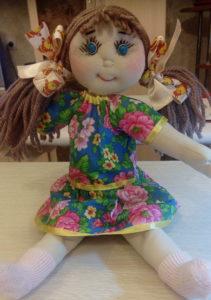 Трикотаж для тела текстильной куклы