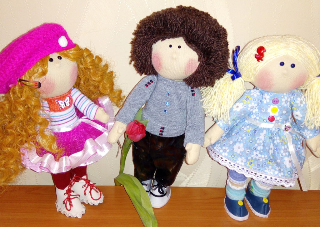 Текстильные куклы ручной работы. Фото. куклы в подарок