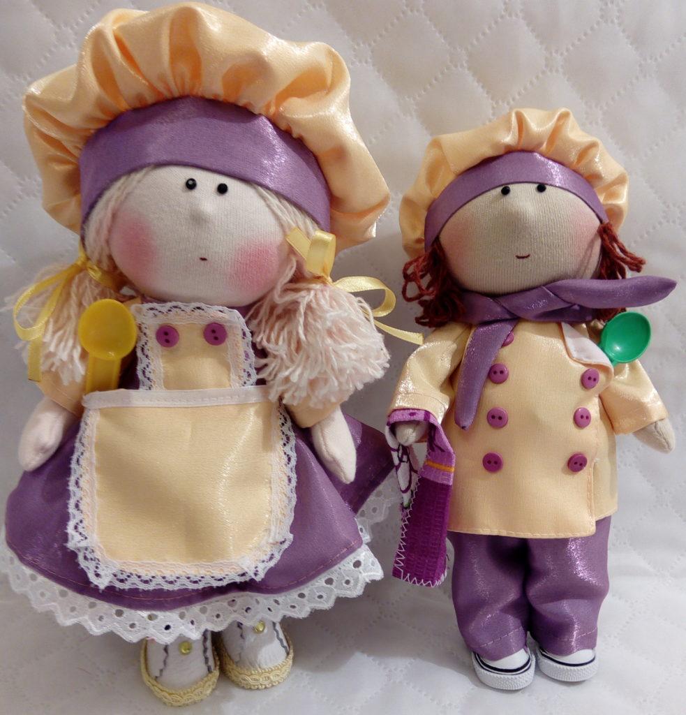 Текстильные куклы ручной работы. Фото. Поварята