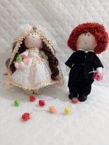 Текстильные куклы мальчики. Фото Жених и невеста