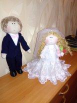 Текстильные куклы мальчики. Фото. Свадебные куклы на заказ