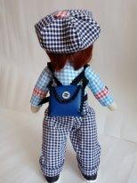 Текстильные куклы мальчики. Фото. Мальчуган с рюкзачком