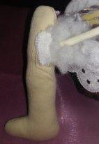 Как набить текстильную  куклу. Нога