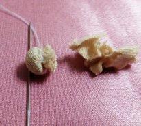 Как сделать нос текстильной кукле. Заготовка