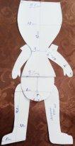Выкройка для тела куклы. Человечек