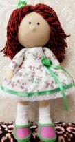Волосы из пряжи для  текстильной куклы. Короткая стрижка