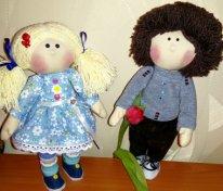 Игровая текстильная кукла. Друзья