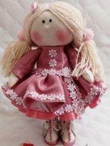 Игровая текстильная кукла. Цветочная девочка