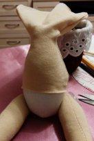 Как пришить голову текстильной кукле. Обтяжка