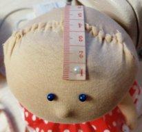 Волосы из пряжи для  текстильной куклы. Снимаем мерки