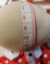 Волосы из пряжи для  текстильной куклы. Измерение