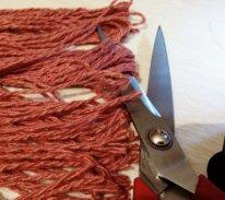 Волосы из пряжи для  текстильной куклы. Паричок