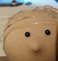 Волосы из пряжи для  текстильной куклы  Голова