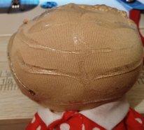Волосы из пряжи для  текстильной куклы. Клей под парик