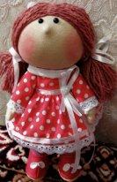 Волосы из пряжи для  текстильной куклы . Парик