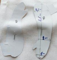 Ручки текстильной куклы Выкройка на ткани