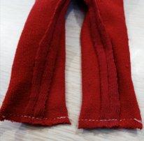 Как сшить колготки для текстильной куклы. Нижние швы