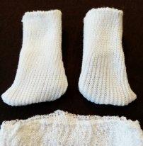 Носки для текстильной куклы. Носки готовы