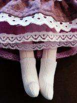 Носки для текстильной куклы. Надеваем носочки на ножки