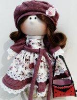 Берет для текстильной куклы