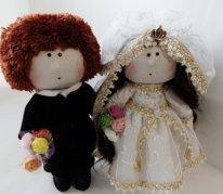 Куклы жених и невеста. Фото