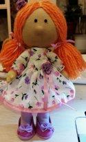 Текстильные куклы с волосами из пряжи