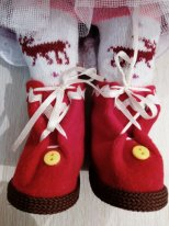 Сапожки из флиса для текстильной куклы