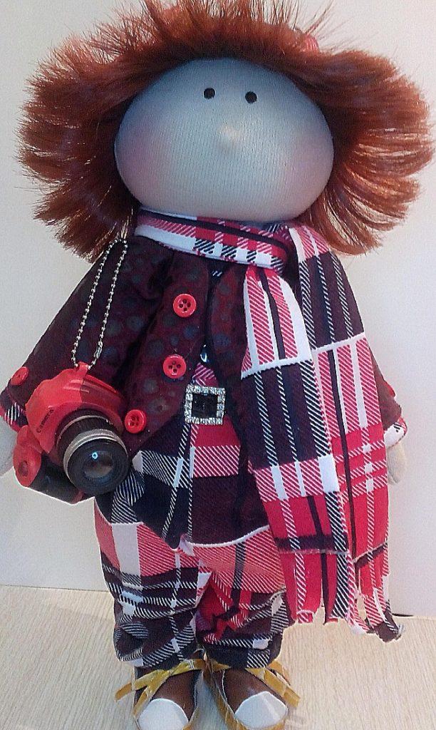 Текстильная кукла мальчик