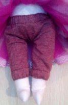 Штанишки из трикотажа для текстильной куклы