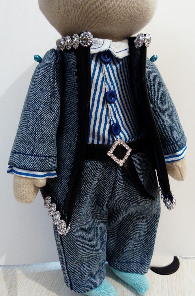 Брюки для текстильной куклы
