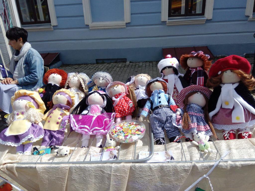 Текстильные куклы на Спасской ярмарке